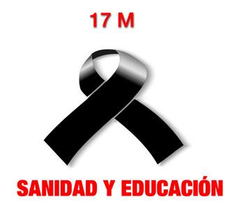 17M Día de Luto por la Educación y la Sanidad pública